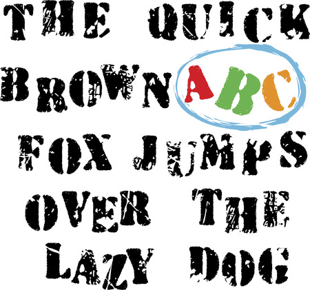 Grunge alphabet. Vector