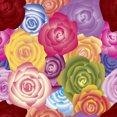 Roses seamless pattern.