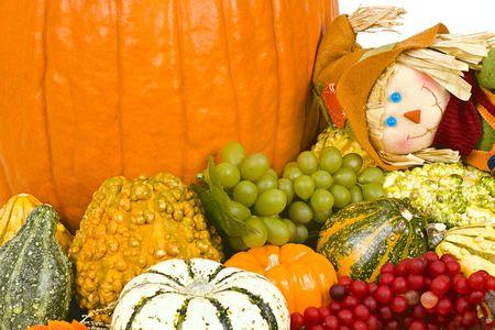 Halloween still life with scarecrow. Stock Photo - 5670425