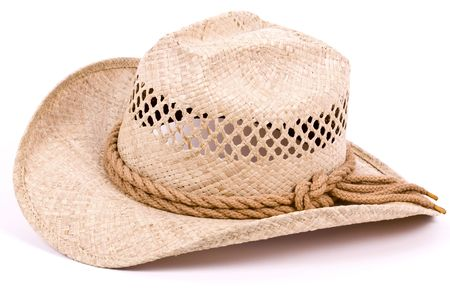 Cowboy hat isolated on white.
