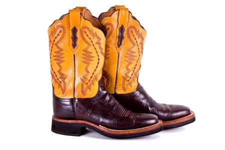 Cowboy boots isolated on white. photo