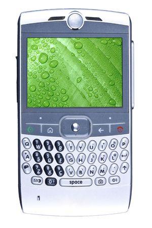 Smartphone geïsoleerd op wit.