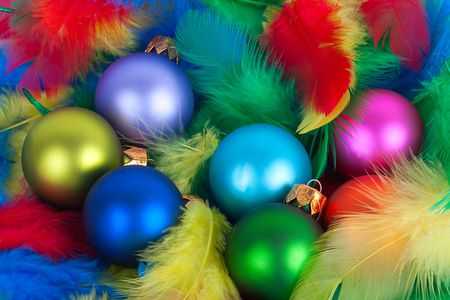 Vivid Christmas balls.