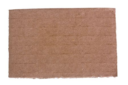 Piece of cardboard isolated on white. photo