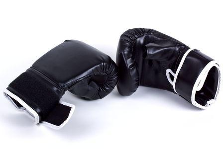 Boxing gloves isolated on white. photo