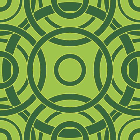 抽象的なサークルのシームレスなパターン。