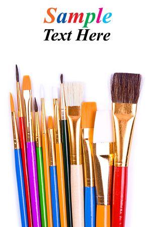 Paintbrushes isolated on white. Stock Photo