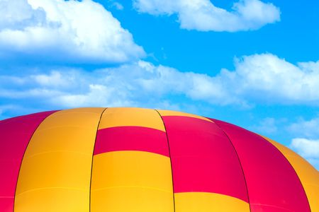 Hot air balloon detail.