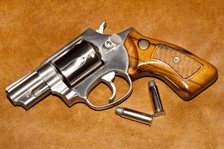 Handgun closeup. photo