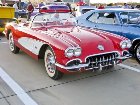 North Richland Hills,TX - August 30: Detail of BISD Car Show  - August 30, 2008 at Birdville ISD in North Richland Hills, Texas.