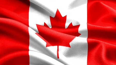 canadian flag: Canadian flag. Stock Photo