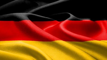 Duitse vlag. Stockfoto