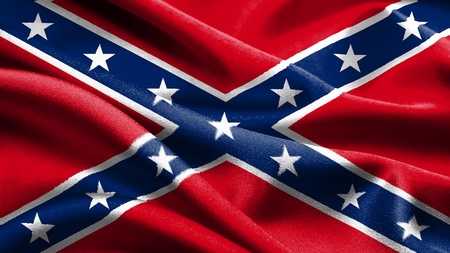 Rebel vlag. Stockfoto