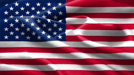 US-amerikanische Flagge Standard-Bild - 9815196