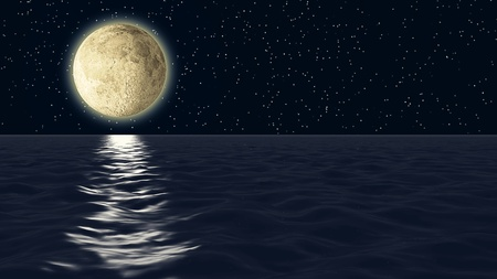 Moonlight reflection.