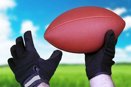 Voetbal concept. Stockfoto