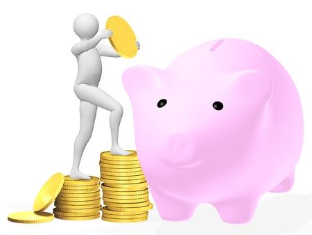 Saving money gold coins