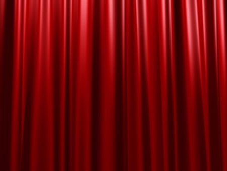 Red velvet curtain photo