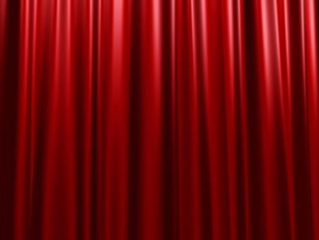 Rood fluweel gordijn Stockfoto