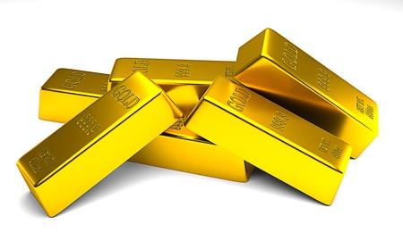 bullion: Gold bars Stock Photo