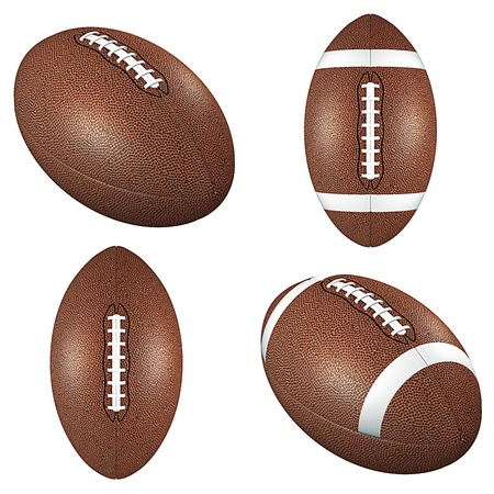 Football balls isolated on white photo