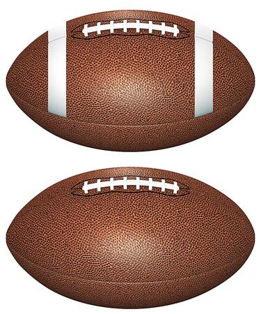 Voetbal ballen geà ¯ soleerd op wit Stockfoto