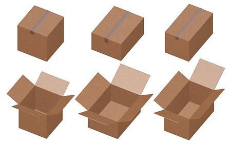 Cardboard boxes photo