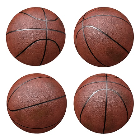 Basketballs isloated on white photo