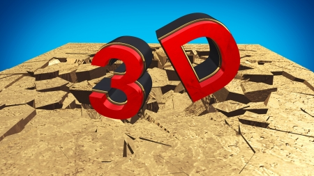 3D red text Stock Photo - 14437992