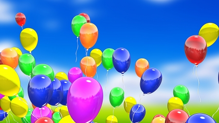 Flying balloons photo
