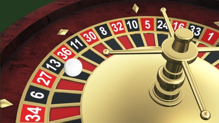 Casino roulette detail photo