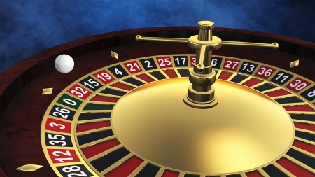 Casino roulette spinning photo