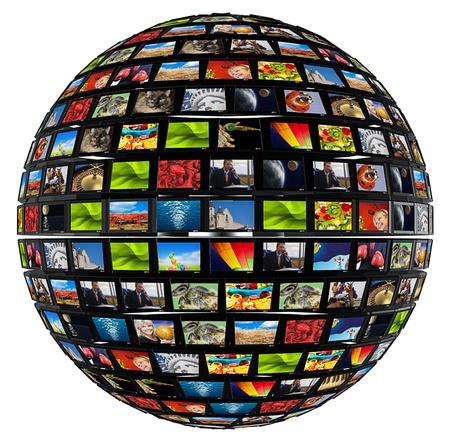 Moniteurs en forme de sphère Banque d'images - 15260978