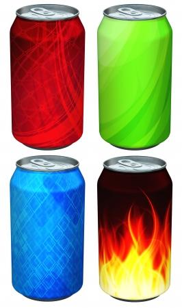 lata de refresco: Lata de refresco modelos Foto de archivo