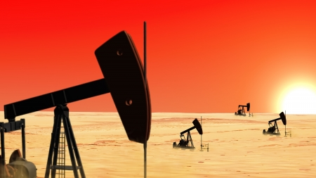 conventional: Oil wells in the desert