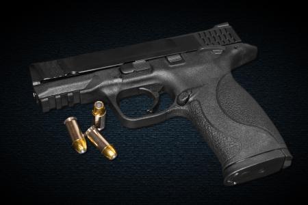 45: A 45 mm caliber gun Stock Photo