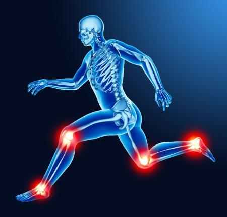 Leg joint pain Stockfoto