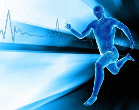Man jogging photo