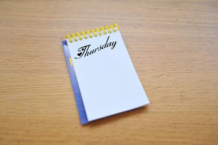 thursday: Thursday tasks Notebook