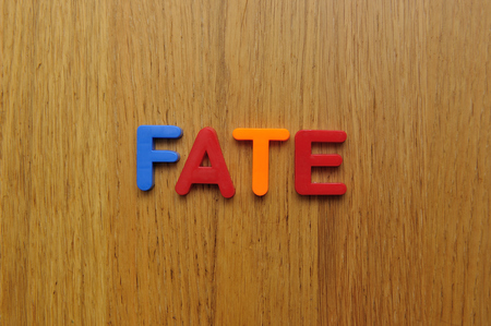 Fate: Fate word Stock Photo