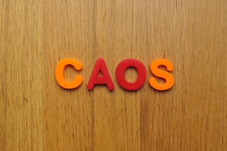 chaos word Stock Photo