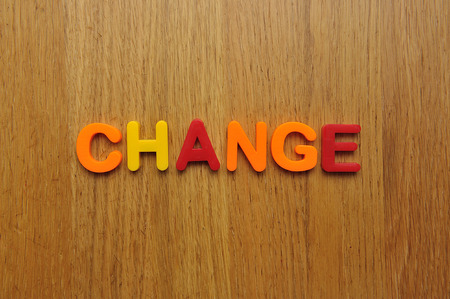 Change word Stock Photo