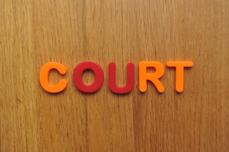 Court word Stock Photo