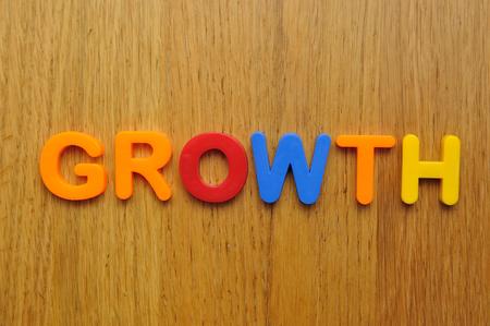 salts: Growth word Stock Photo