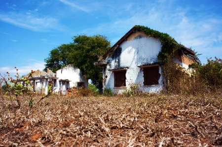 in Vietnam,  resort projects sprout up, so people have to be relocated to other places, but these projects were not implemented and  houses deserted by this year to other years, creating a space is very scary ghost, so i call it Stock Photo