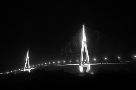can tho: Longest bridge of Viet Nam at night - Can Tho cable- stayed Bridge