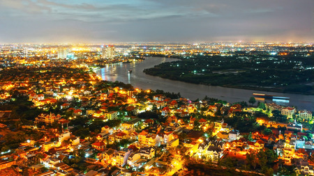 Impression landscape of Ho Chi Minh city from high view