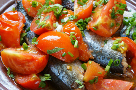 vietnamese food: Vietnamese food, braised fish with tomato, a popular dish in Vietnam meal, cheap, tasty,  nutrition and fresh raw material,  fish stew with fish sauce, sugar season with tomato, spice