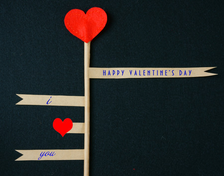Valentine day background with red heart, i love you message, Feb 14 is the special day for love, February 14 is happy day for couple Stock Photo