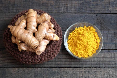 Turmeric powder, agriculture product, nutrition, healthy food, natural cosmetic for beauty care, can treat stomach ache, also is spice for food,  aromatic flavor, organic yellow color